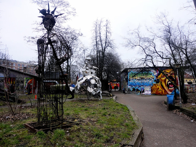 Artwork in Christiania, Copenhagen, Denmark