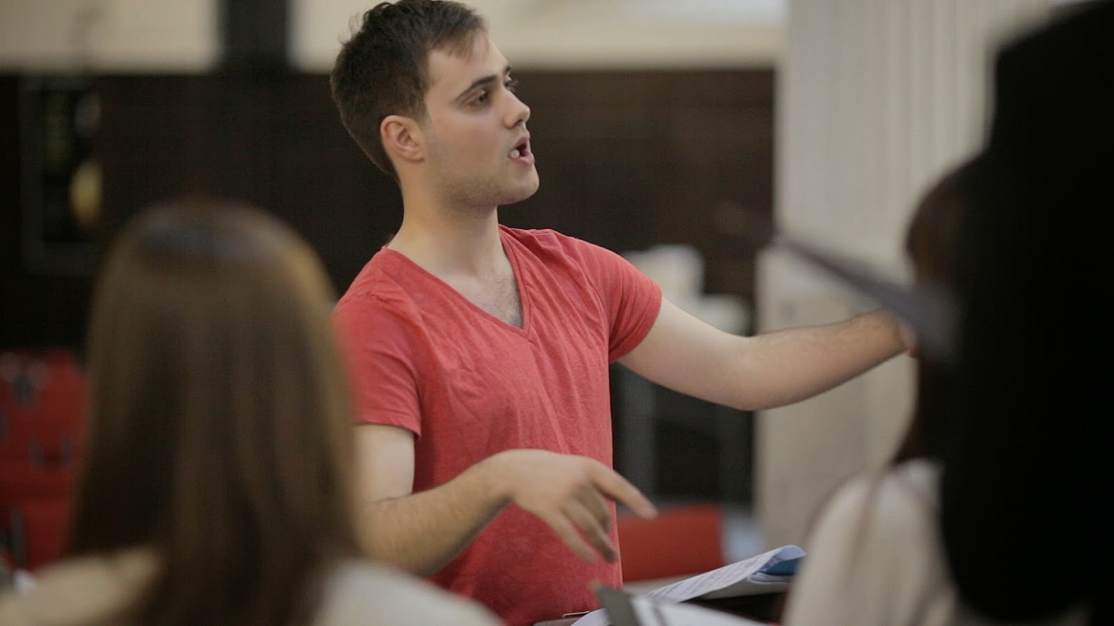 Robbie Jacobs conducts Reverie in rehearsal St Mary at Hill credit two by two video
