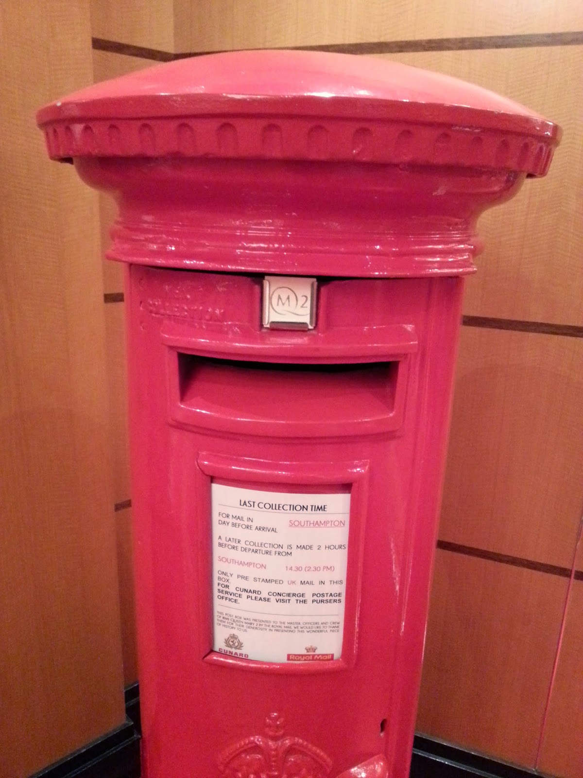 Queen Mary 2 (QM2) - Post Box