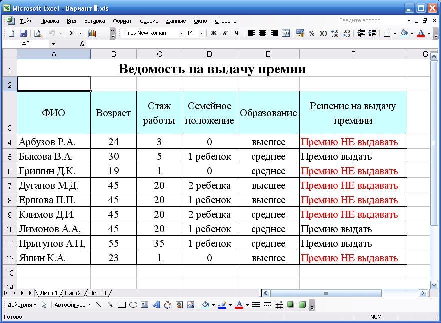 список сотрудников организации образец Excel - фото 6