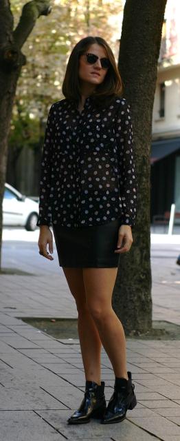 minifalda de cuero