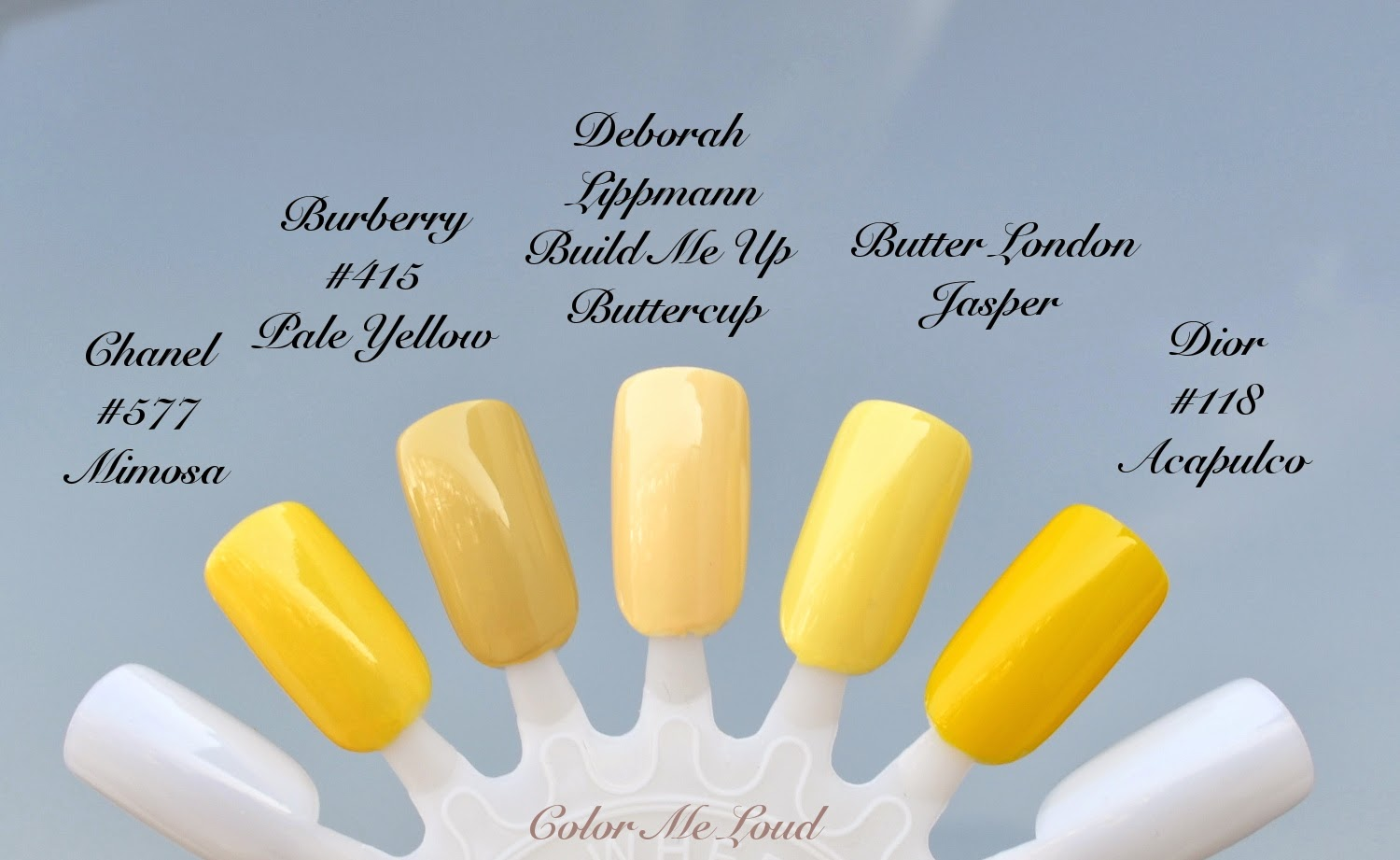 Color Focus: Yellow for Spring Nails, Burberry #415 Pale Yellow ...