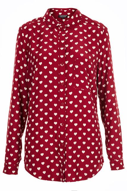heart print shirt