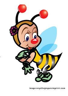 abeja presumida en dibujo