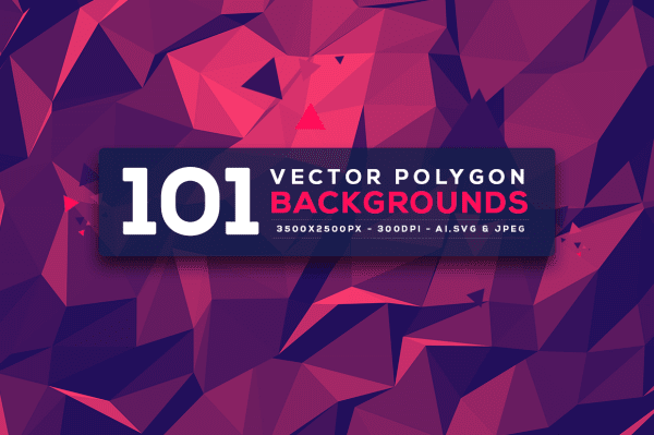 Vector Polygon Backgrounds V.3