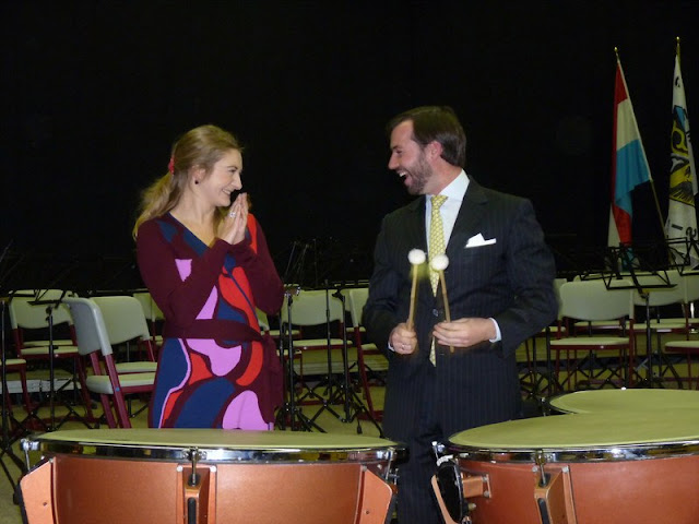 Princess Stephanie attended the concert of the Fanfare Prince Henri Bouneweg