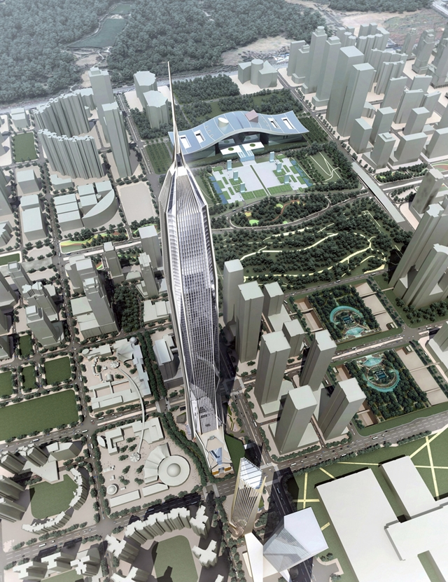 Rendering of the Ping An Finance Center