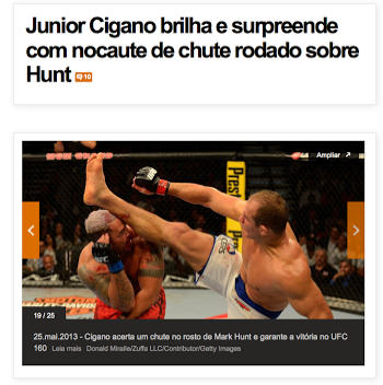Vídeo - UFC - Luta Junior Cigana nocauyeia Hunt