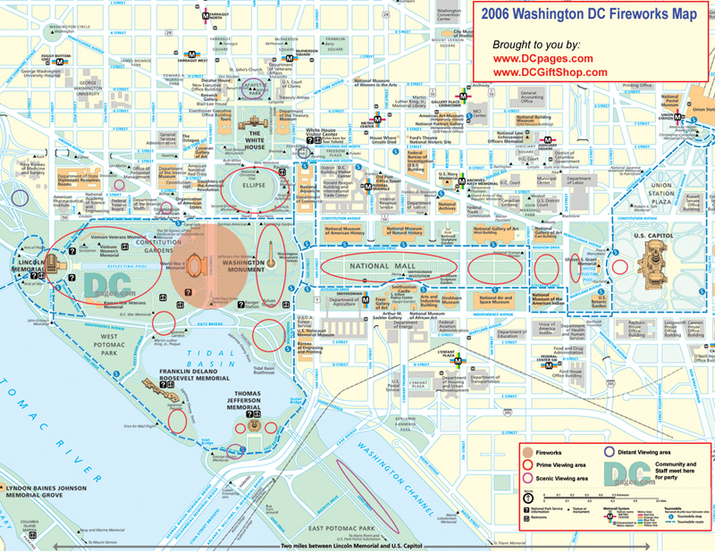 Modest image in printable maps of washington dc