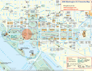 Washington DC Fireworks Map Web SM