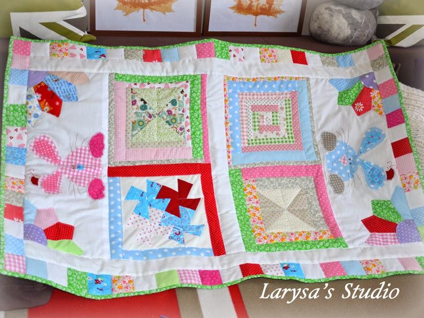 детское одеяльце пэчворк