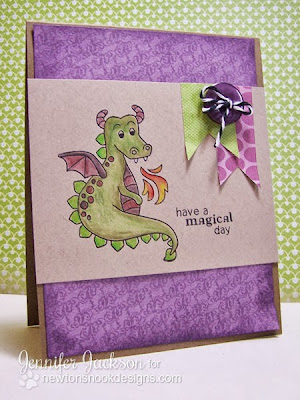 Dragon Card using Magical Dreams Stamp Set by Newton's Nook Designs