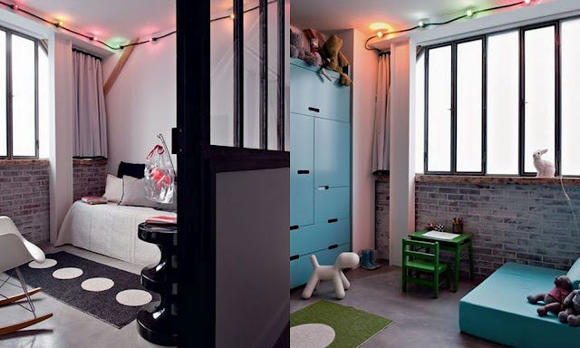 Interiors by the city un loft parisien style for Chambre ado style industriel