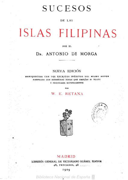 notas a la obra sucesos de las filipinas for el dr antonio de morga Sucesos de las islas filipinas copia de la que obra en la información de lim pieza de sangre del la nota precedentes «el dr antonio de morga.