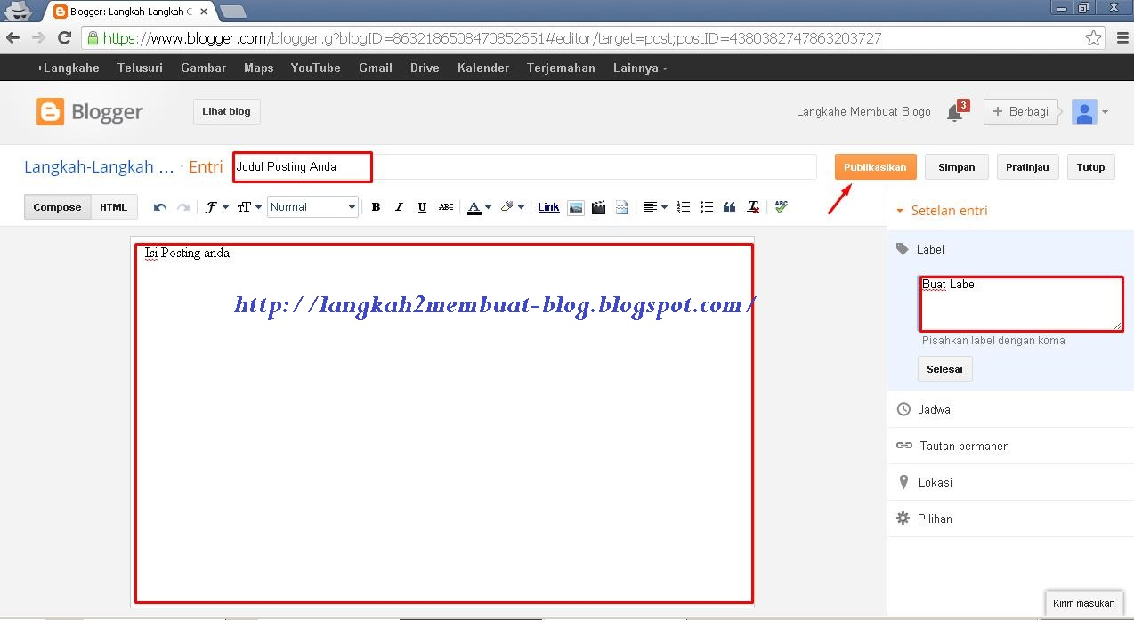 Cara Membuat Blog