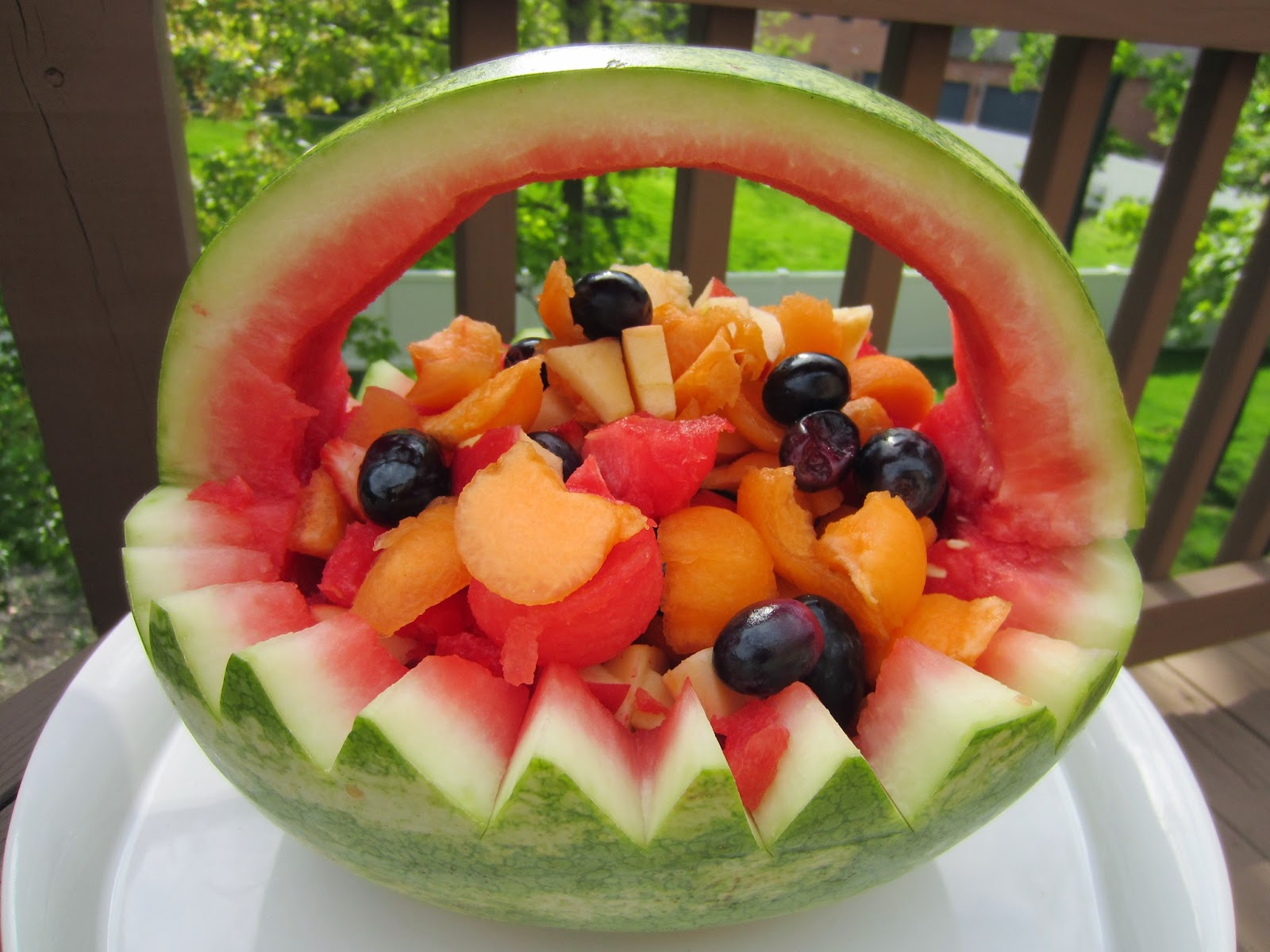 watermelon basket carving patterns