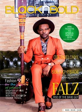 FALZ Covers The March Edition Of BlackNBold Magazine