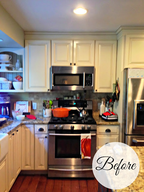 Before new mantel hood stainless stove with microwave-www.goldenboysandme.com