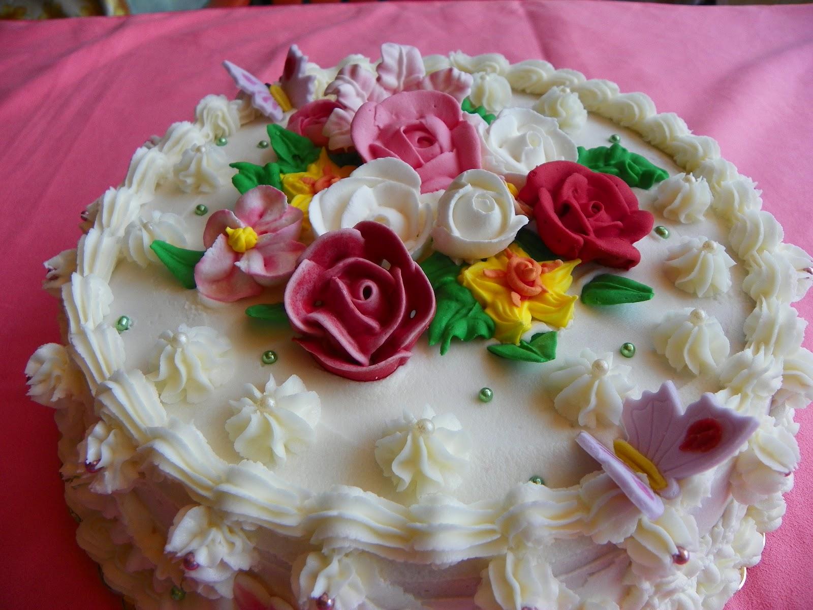 Le torte di rosalba torta fiori di glassa for Decorazione torte con wafer