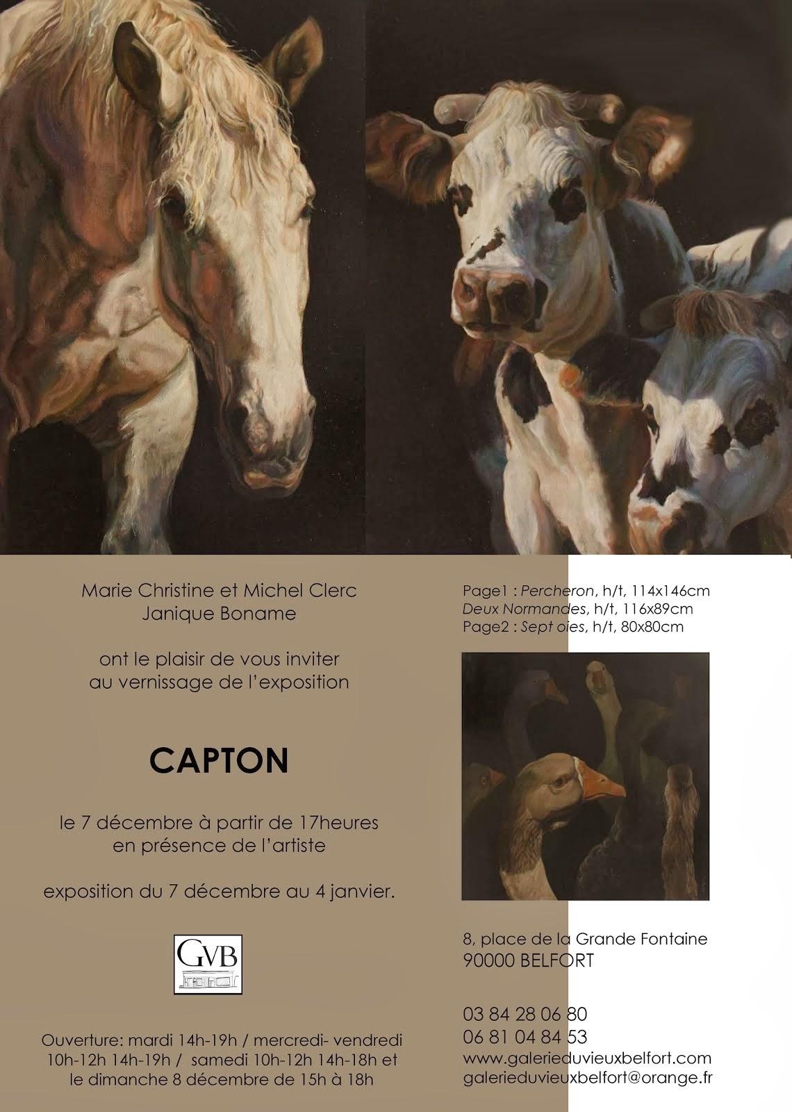 GALERIE DU VIEUX BELFORT : EXPOSITION PERSONNELLE DE CAPTON