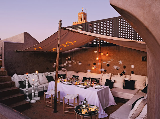 La terrasse du riad MOROCCO IN ALL BUSINESS MODE...SORT OF