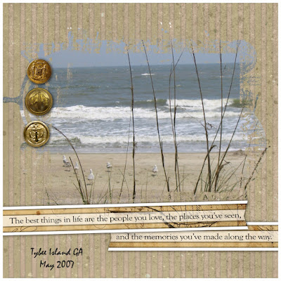 Crafty Colonel Donna Nuce for Club Scrap Navigation Kit, Scrapbook Page