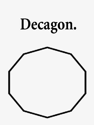 Clipart decagon printable geometry principles shapes easy drawing methods school coloring worksheets
