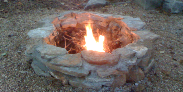 how to make a bonfire without a fire pit