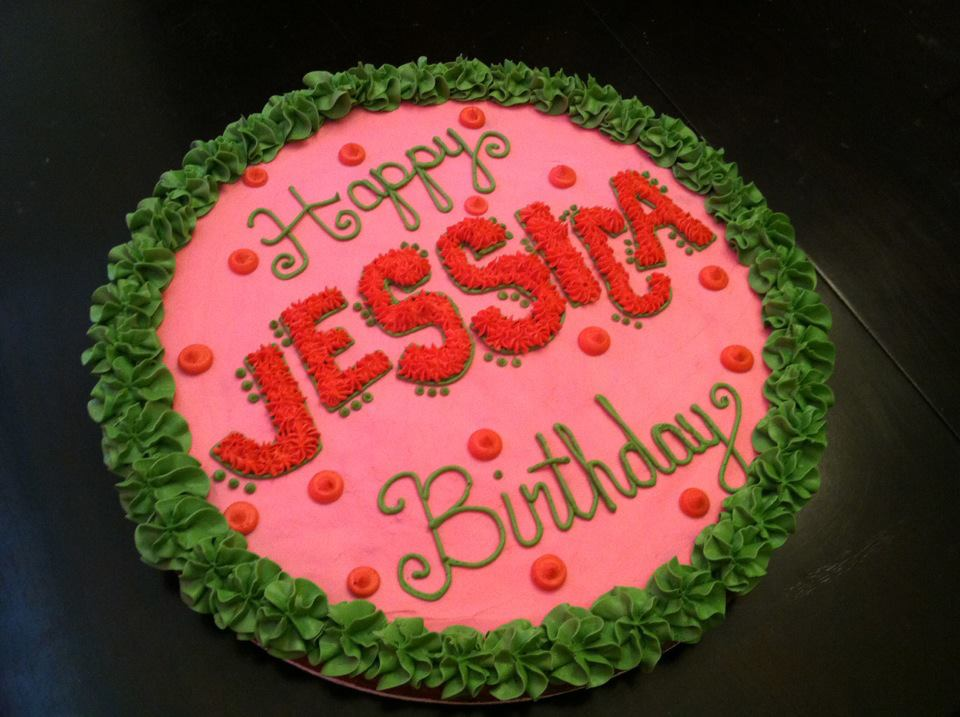 Sweet Treats By Susan Pink Green Birthday Cookie Cake