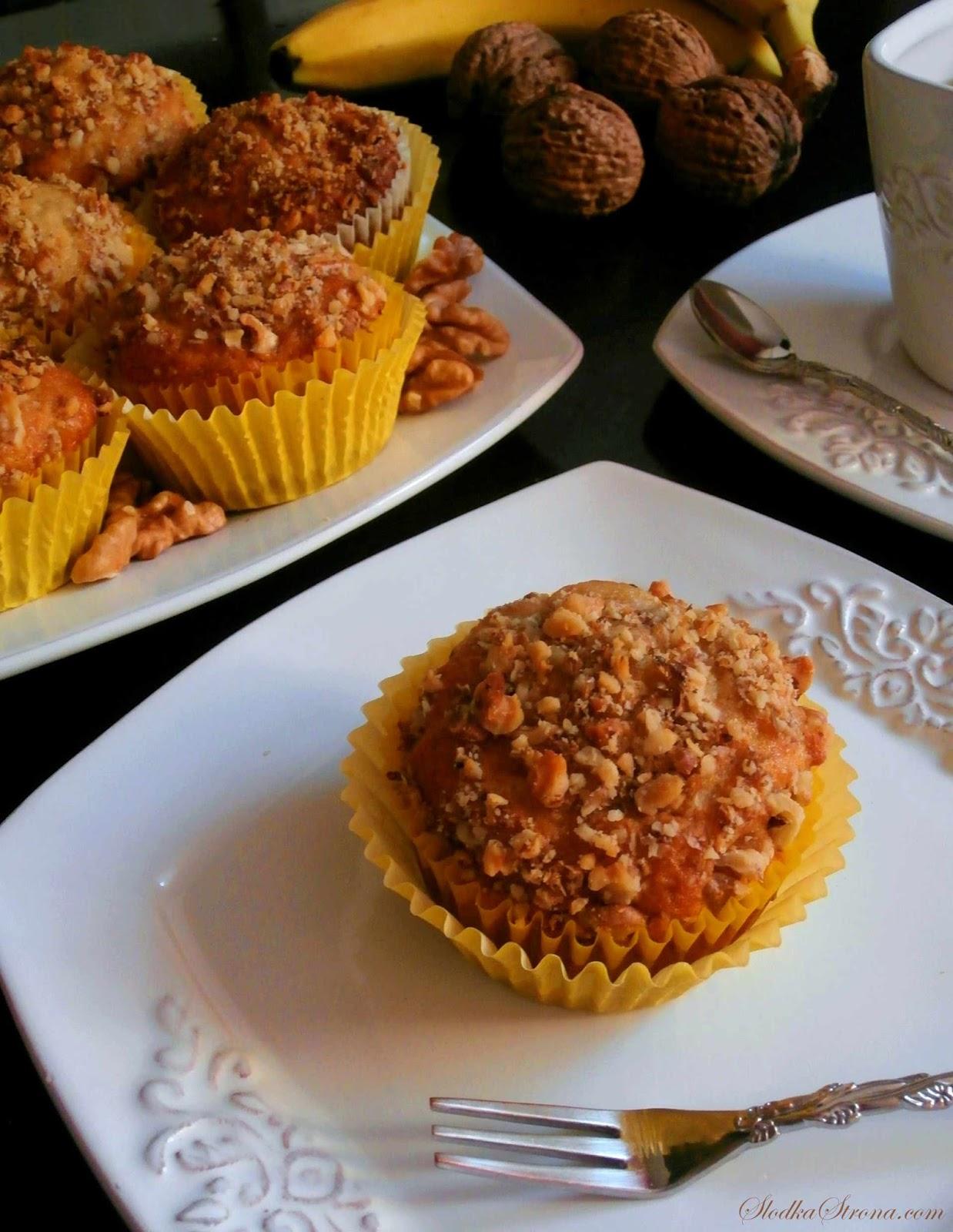 muffinki bananowo orzechowe