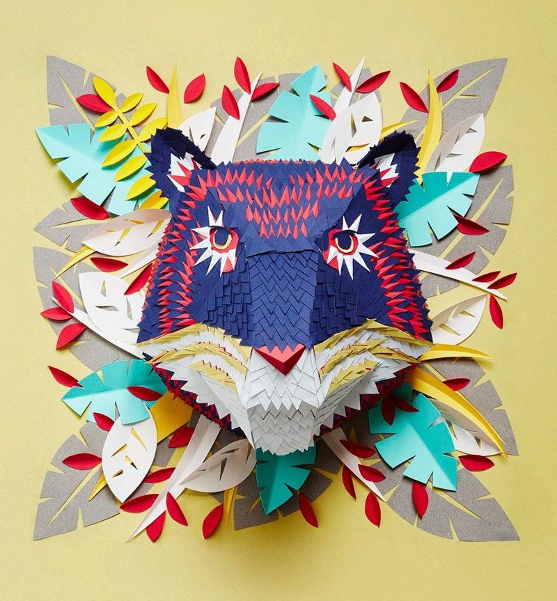 máscaras de papel de Mlle Hipolyte