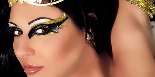 maquillaje egipcio de fantasia