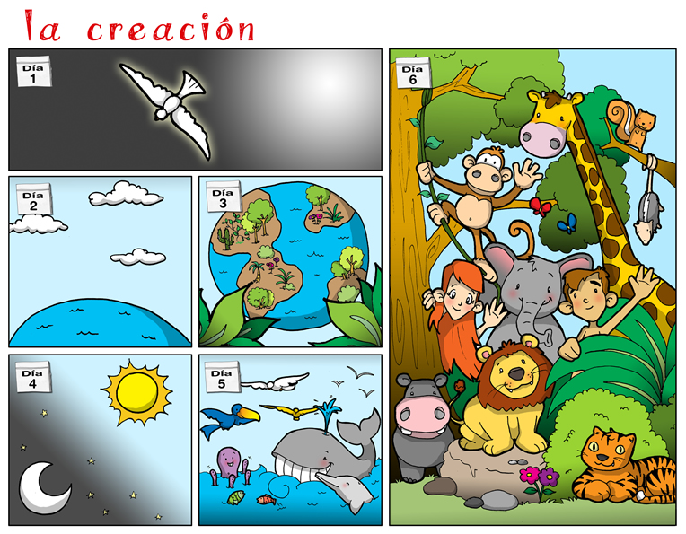 la creacion de la vida en la tierra: