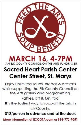 3-16 Feed The Arts Soup Benefit