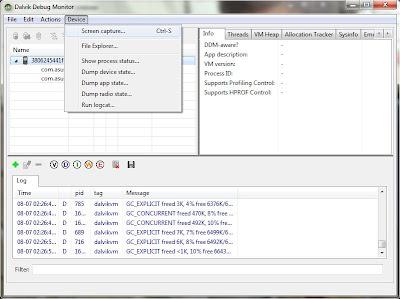 Imagen de la configuración de realizar screenshots en tu Android sin ser Root usando el sdk de Android en una tablet Asus Eee Pad Ttransformer TF101