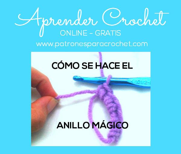 Cómo hacer el anillo mágico para empezar a tejer crochet | Patrones ...