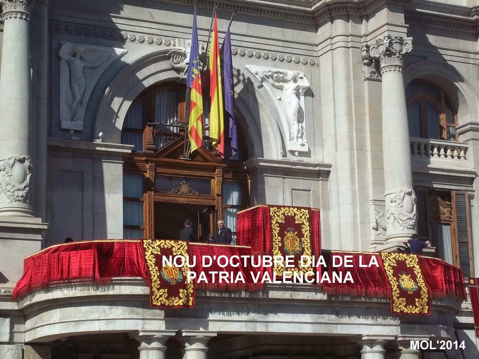 NOU D'OCTUBRE, LA FESTA DE TOTS ELS VALENCIANS D'ALACANT, CASTELLO I VALENCIA.