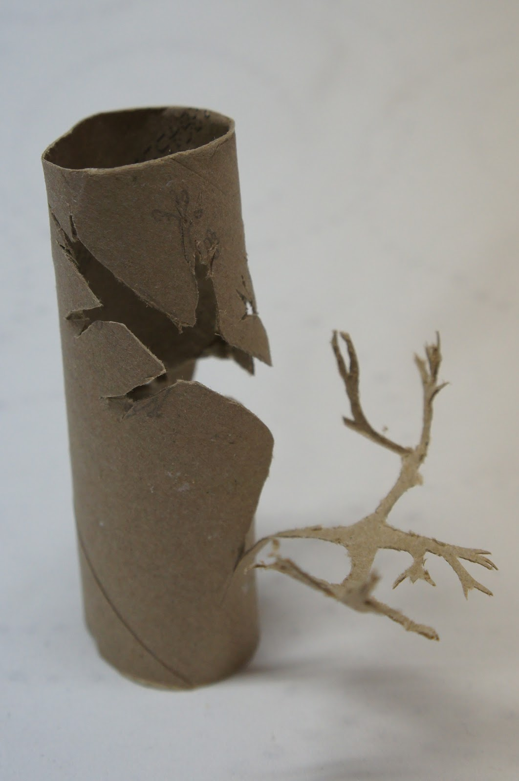 Re start something good 03 04 2012 toilet paper roll tree for How to make a tree out of toilet paper rolls