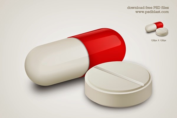 Capsule and White Pill Medicine Icon PSD