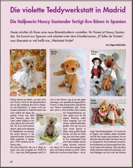 MIs Teddy Bears en la revista Teddy & Co