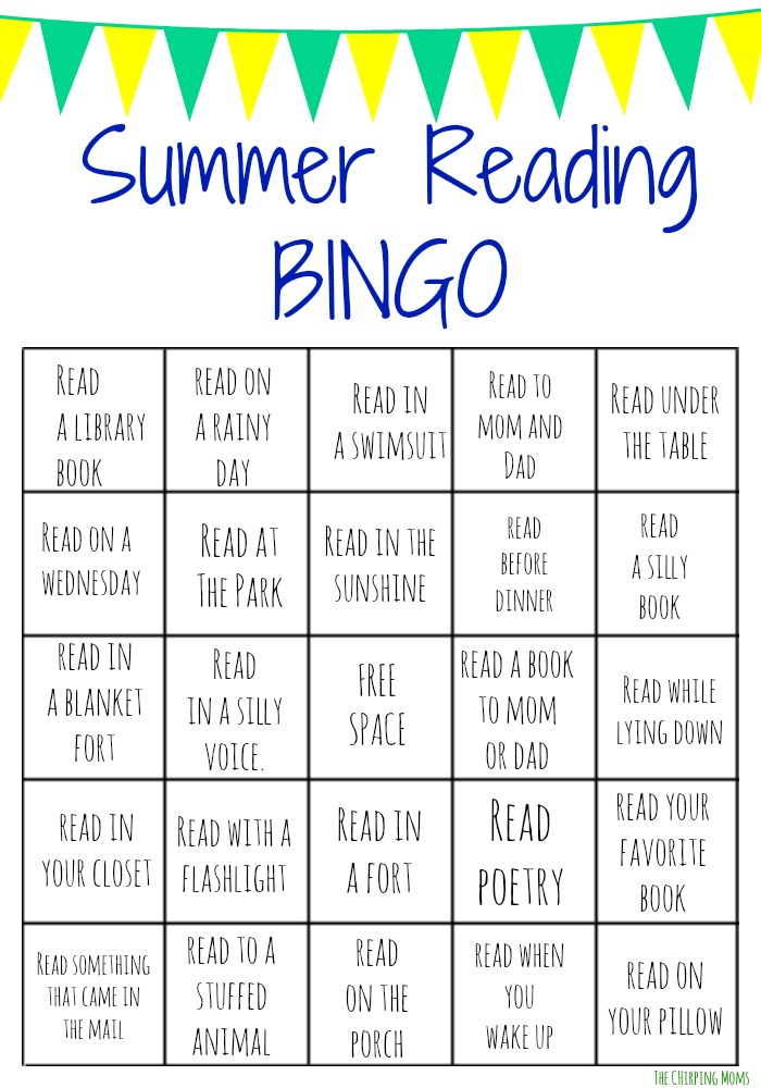 graphic relating to Free Printable Reading Games called Summer time Reading through Bingo Dilemma for Youngsters (No cost Printables