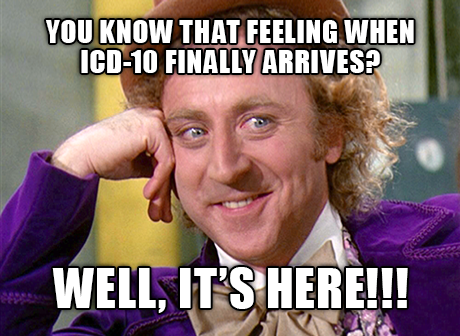 ICD-10 is finally here!
