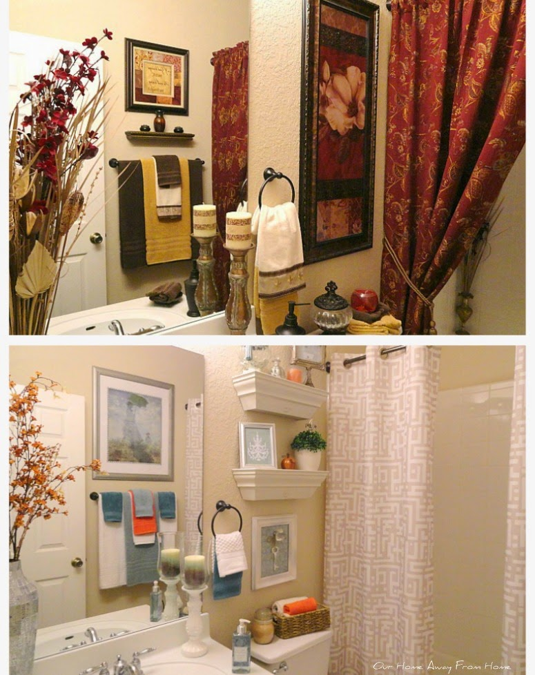 Home Away From Home Bathroom makeover featured at One More Time Events.com
