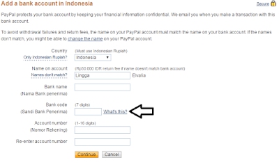 Cara Memasukan Data Bank Pada PayPal