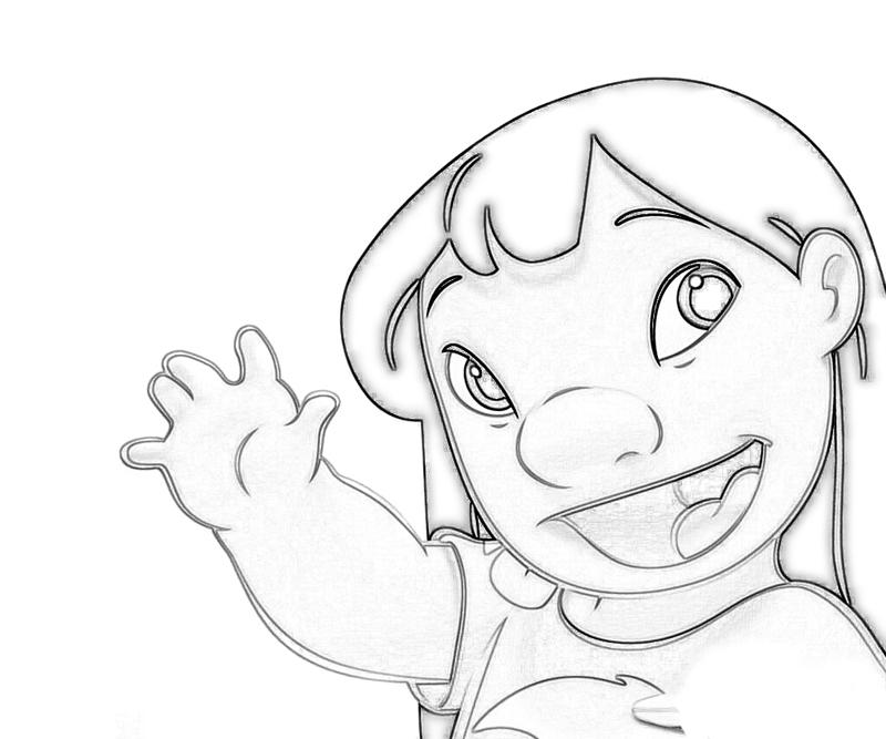 Lilo and Stitch Lilo Portrait Coloring Pages title=