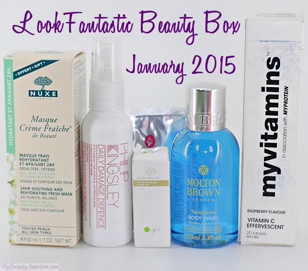 Review and unboxing of LookFantastic beauty box January 2015 - a UK beauty subscription that ships worldwide monthly.