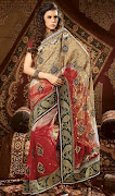 Antique Saree Blouse Designs 2013 . Party Sarees Collection 201314