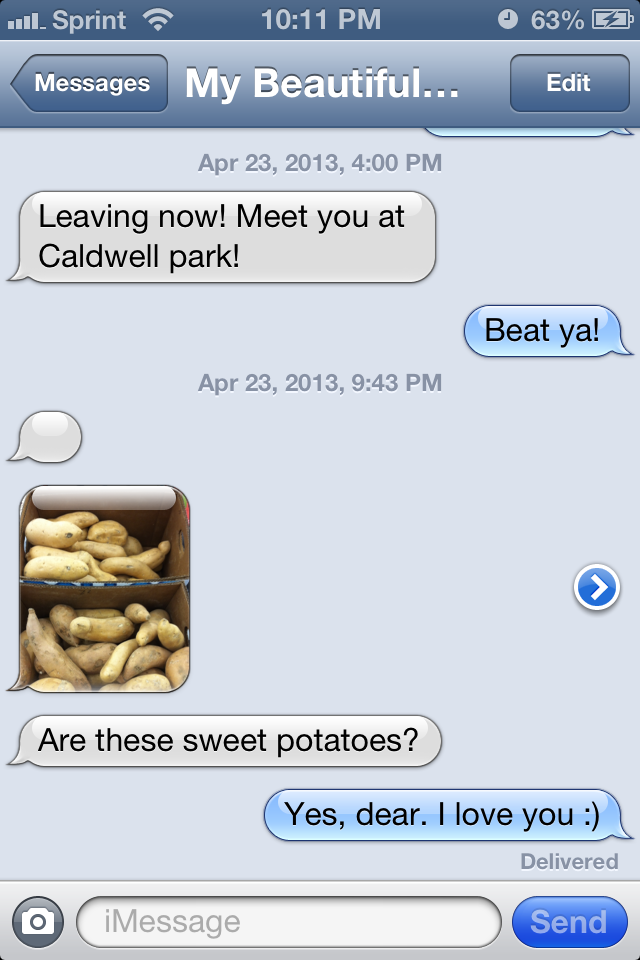 Our life in text messages funky vegetables