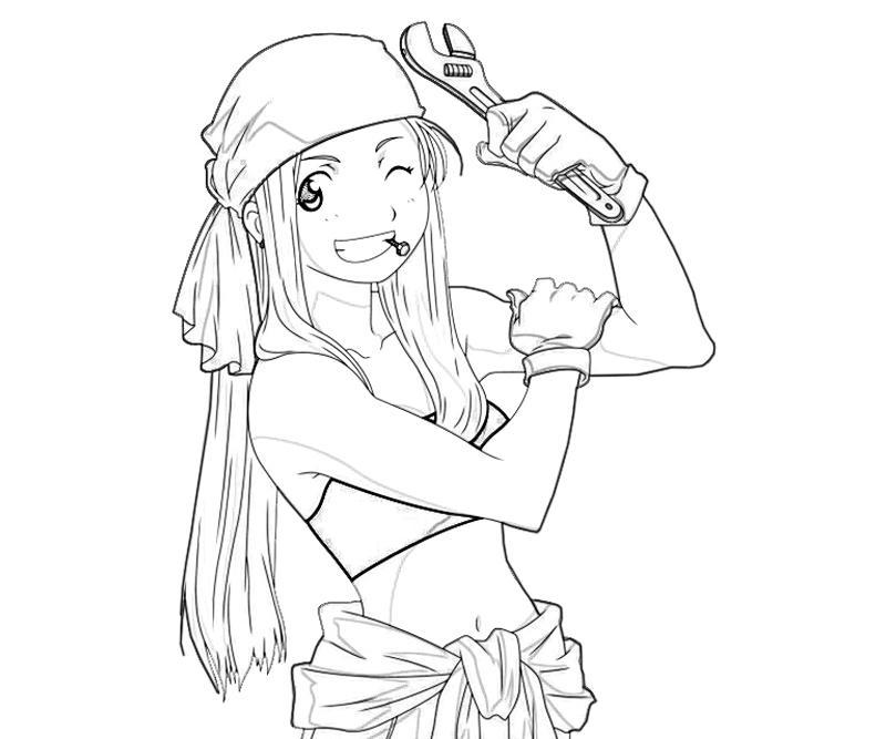 winry-rockbell-happy-coloring-pages