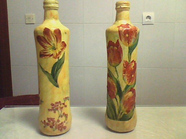 Manualidades botellas decoradas - Botellas decoradas manualidades ...